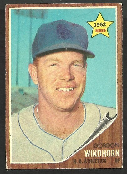 Kansas City Athletics Gordon Windhorn 1962 Topps Baseball Card 254 vg/ex
