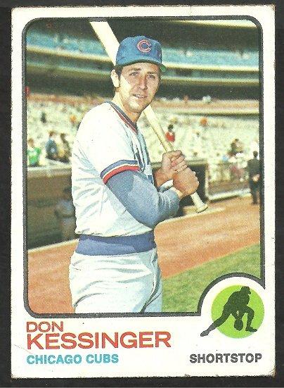 Chicago Cubs Don Kessinger 1973 Topps Baseball Card 285 vg