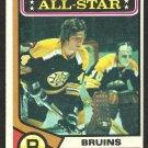 BOSTON BRUINS BOBBY ORR A.S. 74/75 TOPPS # 130