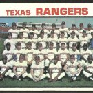 Texas Rangers Team Card with Ted Williams 1973 Topps Baseball Card 7 vg