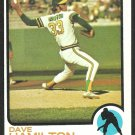 Oakland Athletics Dave Hamilton 1973 Topps Baseball Card 214 nr mt
