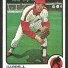 Philadelphia Phillies Darrell Brandon 1973 Topps Baseball Card 326 ex/nm