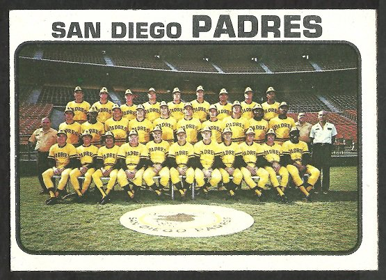 San Diego Padres Team Card 1973 Topps 316