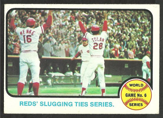 World Series Game 6 Cincinnati Reds Johnny Bench Oakland Athletics 1973 Topps 208