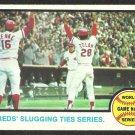 World Series Game 6 Cincinnati Reds Johnny Bench Oakland Athletics 1973 Topps 208