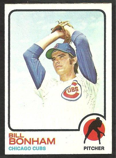 Chicago Cubs Bill Bonham 1973 Topps Baseball Card 328 nr mt