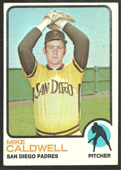 San Diego Padres Mike Caldwell RC Rookie Card 1973 Topps Baseball Card 182 vg/ex