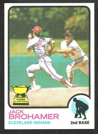 Cleveland Indians Jack Brohamer 1973 Topps Baseball Card 181