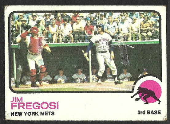 NEW YORK METS JIM FREGOSI 1973 TOPPS # 525 fair/good