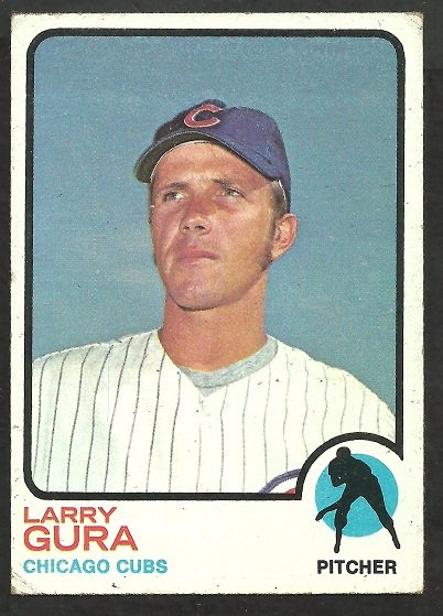 CHICAGO CUBS LARRY GURA 1973 TOPPS # 501 VG