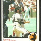 SAN FRANCISCO GIANTS DAVE RADER 1973 TOPPS # 121 VG