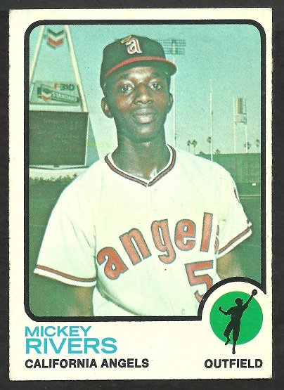 CALIFORNIA ANGELS MICKEY RIVERS 1973 TOPPS # 597 EX