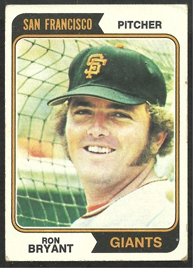 SAN FRANCISCO GIANTS RON BRYANT 1974 TOPPS # 104 VG