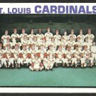 ST LOUIS CARDINALS TEAM CARD 1973 TOPPS # 219 VG