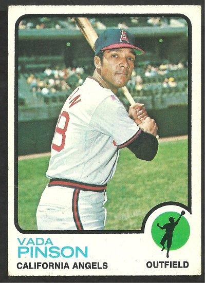 CALIFORNIA ANGELS VADA PINSON 1973 TOPPS # 75 VG