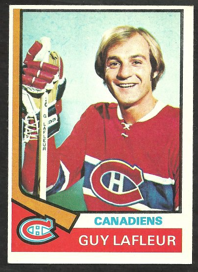 MONTREAL CANADIENS GUY LAFLEUR 74/75 TOPPS # 232 EX MT
