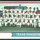 TEXAS RANGERS TEAM CARD 1974 TOPPS # 184 EX