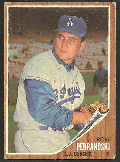 LOS ANGELES DODGERS RON PERRANOSKI 1962 TOPPS # 297 VG