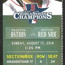 Houston Astros Boston Red Sox 2014 Ticket Jose Altuve Dexter Fowler Jon Singleton HR