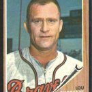 MILWAUKEE BRAVES LOU BURDETTE 1962 TOPPS # 380 VG/EX