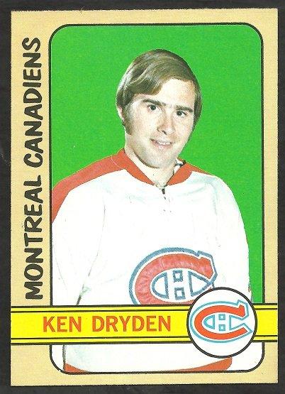 MONTREAL CANADIENS KEN DRYDEN 72/73 TOPPS # 160 NR MT