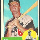 LOS ANGELES DODGERS RON FAIRLY 1963 TOPPS # 105 good