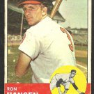 BALTIMORE ORIOLES RON HANSEN 1963 TOPPS # 88 good