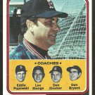 BOSTON RED SOX DARRELL JOHNSON & COACHES 1974 TOPPS # 403 NM