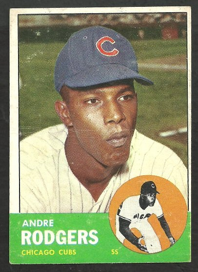 CHICAGO CUBS ANDRE RODGERS 1963 TOPPS # 193 G/VG