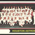 HOUSTON ASTROS TEAM CARD 1974 TOPPS # 154 g/vg