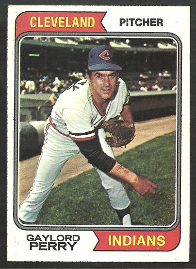 CLEVELAND INDIANS GAYLORD PERRY 1974 TOPPS # 35 VG