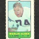 Los Angeles Rams Merlin Olsen 1969 Topps 4 in 1 Football Stamp