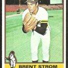 1976 Topps Baseball Card # 84 San Diego Padres Brent Strom vg/ex