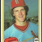 1981 Topps Baseball Card # 266 St Louis Cardinals Tom Herr nr mt