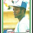 1981 Topps Baseball Card # 277 Toronto Blue Jays Alfredo Griffin nr mt