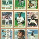 1982 Topps San Francisco Giants Team Lot 27 Joe Morgan Vida Blue Jack Clark D Evans Chili Davis RC