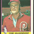 1976 Topps Baseball Card # 168 Philadelphia Phillies Tom Hilgendorf ex mt oc