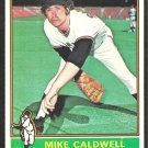 1976 Topps Baseball Card # 157 San Francisco Giants Mike Caldwell ex/nm
