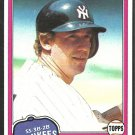 1981 Topps Baseball Card # 281 New York Yankees Fred Stanley nr mt