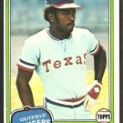 1981 Topps Baseball Card # 283 Texas Rangers Billy Sample nr mt