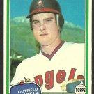 1981 Topps Baseball Card # 288 California Angels Bob Clark nr mt