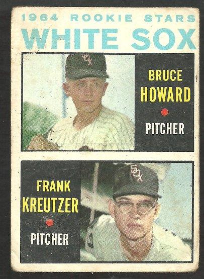Chicago White Sox Rookies Howard Kreutzer Bruce Howard 1964 Topps Baseball Card 107 good