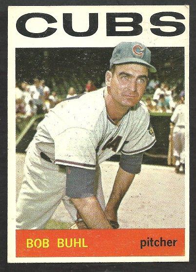 CHICAGO CUBS BOB BUHL 1964 TOPPS # 96 VG/EX