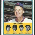 CHICAGO CUBS WHITEY LOCKMAN COACHES 1974 TOPPS # 354 VG/EX