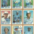 1982 Topps Toronto Blue Jays Team Lot 23 Jorge Bell RC Dave Steib Moseby Whitt Griffin +