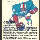 1973 Fleer Pro Bowl Scouting Report # 1 center g/vg
