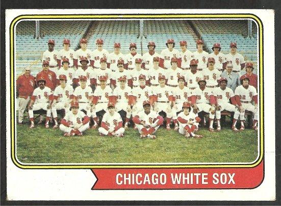 CHICAGO WHITE SOX TEAM CARD 1974 TOPPS # 416 VG/EX