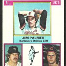 1976 Topps Baseball Card # 202 ERA Leaders Baltimore Orioles New York Yankees Cleveland Indians
