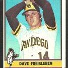 1976 Topps Baseball Card # 217 San Diego Padres Dave Freisleben vg
