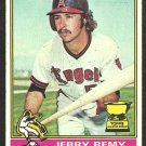 1976 Topps Baseball Card # 229 California Angels Jerry Remy Rookie Card RC vg